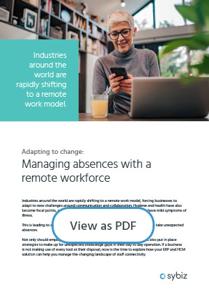 Managing absences with a remote workforce