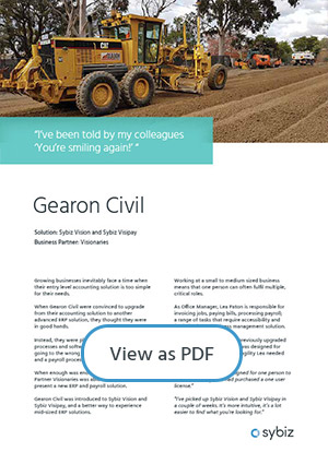 Gearon Civil and Sybiz Vision